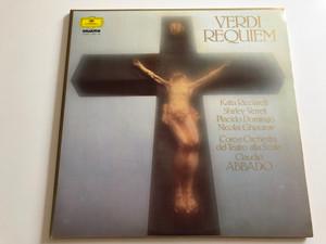 Verdi - Requiem / Katia Ricciarelli, Shirley Verrett, Placido Domingo, Nicolai Ghiaurov / Coro E Orchestra Del Teatro Alla Scala / Conducted: Claudio Abbado / HUNGAROTON, Deutsche Grammophon 2X LP / SLPX 12847-48