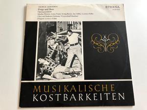 """Musikalische Kostbarkeiten / George Gershwin – Porgy And Bess (Opernquerschnitt) / Choir: Und Sinfonieorchester """"Concerthall Haarlem"""" / Conducted: Lorenzo Fuller / ETERNA LP / 8 20 432"""