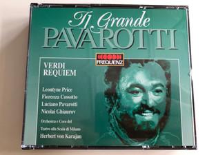 Il Grande Pavarotti / Verdi - Requiem / Leontyne Price, Fiorenza Cossotto, Luciano Pavarotti, Nicolati Ghiaurov / Orchestra e Coro del Teatro alla Scala di Milano / Conducted by Herbert von Karajan / Frequenz 2CD 1995 (8003278435101)