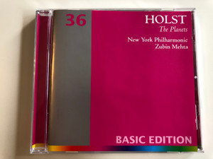 Holst - The Planets / New York Philharmonic / Conducted by Zubin Mehta / Basic Edition 36 / Audio CD 2001 (685738931828)