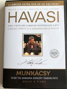 Havasi: Brush & Piano Concert - Musical Tribute to Hungarian Genius Painter Munkácsy Mihály / Exclusive DVD+CD / HUNGARIAN Audio with English Subtitles / Zenei tisztelgés a magyar festőgéniusz előtt (5998618405230.)