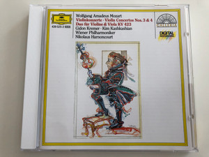 Wolfgang Amadeus Mozart - Violinkonzerte Nos. 3&4 / Duo für Violine & Viola KV 423 / Gidon Kremer, Kim Kashkashian / Wiener Philharmoniker / Conducted by Nikolaus Harnoncourt / Deutsche Grammophon Audio CD 1985 / 439 525-2 (028943952521)