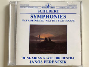 Franz Schubert - Symphonies / No. 8 Unfinished, No. 5 in B flat major / Hungarian State Orchestra / Conducted by János Ferencsik / Hungaroton White Label Audio CD / HRC 152 (5991810015221)