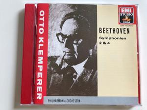 Otto Klemperer - Beethoven Symphonien 2&4 / Philharmonia Orchestra / EMI Studio Audio CD 1990 / CDM 7633552 (077776335520)