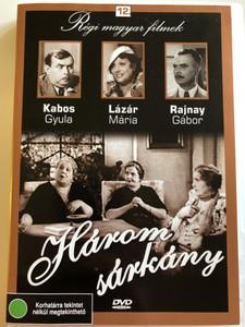 Három Sárkány DVD 1936 / Three Dragons / Hungarian B&W Classic Film / Directed by Vajda László / Starring: Rajnay Gábor, Lázár Mária, Kabos Gyula (5996051280162)