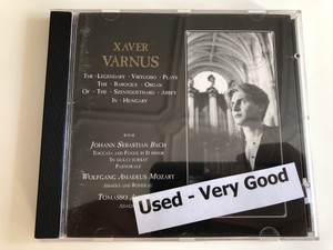 Bach, Mozart, Albinoni - Xaver Varnus - the legendary virtuoso plays the baroque organ of the Szentgotthard abbey in Hungary / Audio CD / ACD 1436 (ACD-1439 )