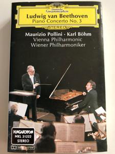 Ludwig van Beethoven - Piano Concerto No.3 / Maurizio Pollini, Karl Böhm / Vienna Philharmonic / Wienner Philharmoniker / Deutsche Grammophon CASSETTE STEREO / MKL 31222