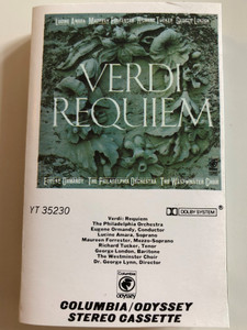 Verdi ‎– Requiem / The Philadelphia Orchestra / Conducted: Eugene Ormandy, The Westminster Choir / Odyssey CASSETTE STEREO‎ / YT 35230