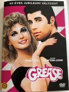 Grease DVD 1978 Pomádé / 40 éves jubileumi változat / Directed by: Randal Kleiser / Starring: John Travolta, Olivia Newton-John / 40th anniversary edition (8590548615863)