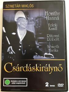 Csárdáskirálynő DVD 1971 The Csárdás Princess / 2 DVD edition / Directed by Szinetár Miklós / Starring: Honthy Hanna, Feleki Kamill, Rátonyi Róbert, Németh Marika (5996357320180)