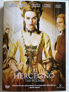 The Duchess DVD 2008 A Hercegnő / Directed by Saul Dibb / Starring: Keira Knightley, Ralph Fiennes, Charlotte Rampling, Dominic Cooper (5999544256958)