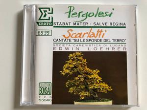 """Pergolesi - Stabat Mater, Salve Regina / Scarlatti - Cantate """"Su Le Sponde Del Tebro"""" / Societa Cameristica di Lugano / Conducted by Edwin Loehrer / ECD 55046 / Audio CD 1988 (0035625504626)"""
