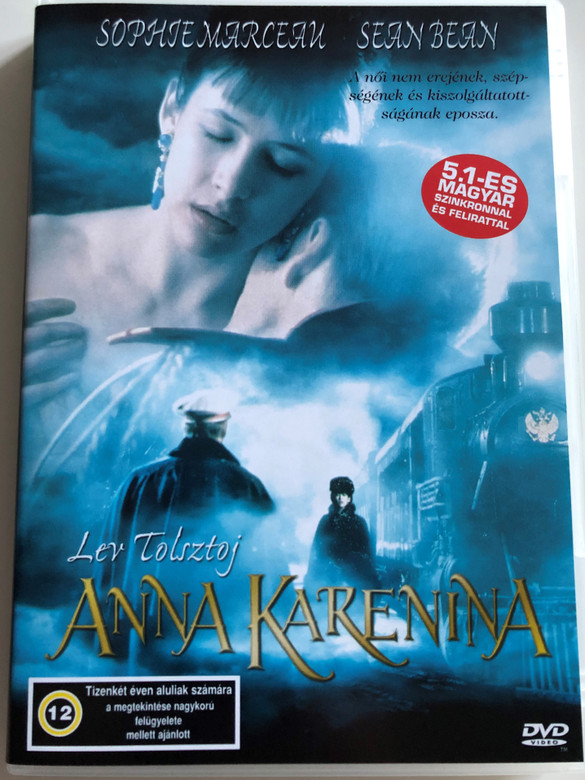Anna Karenina DVD 1997 / Directed by Bernard Rose / Starring: Sophie Marceau, Sean Bean / Lev Tolstoy's classic novel film adaptation (5999553601640)