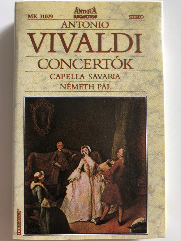Antonio Vivaldi – Concertók / Capella Savaria, Nemeth Pal / Hungaroton Antiqua CASSETTE STEREO / MK 31029