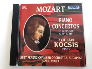 Mozart - Piano Concertos in A major K.414 & 488 / Zoltán Kocsis piano / Liszt Ferenc Chamber Orchestra, Budapest / Conducted by János Rolla / Hungaroton Classic Audio CD 2000 / HCD 12472 (5991811247225)