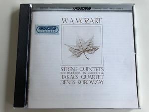 W. A. Mozart - String Quintets in C Major K 515 / in G minor K 516 / Takács Quartet / Dénes Koromzay / Hungaroton Classic Audio CD 1985 / HCD 12656-2 (HCD 12656-2)