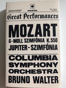 Great Performances / Mozart - G-moll Szimfonia K. 550, Jupiter - Szimfonia / Columbia Symphony Orchestra / Bruno Walter / HUNGAROTON CASSETTE STEREO / MKL 12606