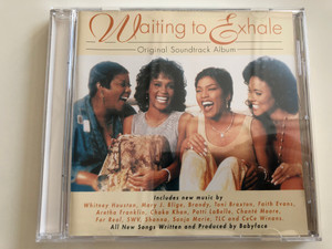 Waiting to Exhale - Original Soundtrack Album / Includes new music by: Whitney Houston, Mary J. Blige, Toni Braxton, Aretha Franklin / Audio CD 1995 / Arista Records (078221879620)