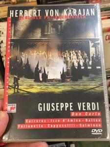 Giuseppe Verdi - Don Carlo DVD 2002 / Berliner Philharmoniker / Conducted by Herbert von Karajan / Carrerras, Izzo d 'Amico - Baltsa / Sony Music DVD - 1986 recording (073891942X)