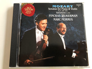 Mozart - Sonatas For Piano & Violin K.27, 303, 454, Variations K.359 / Pinchas Zukerman, Marc Neikrug / Volume 2 / RCA Victor Red Seal Audio CD 1991 / RD60740