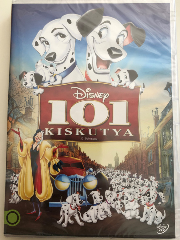101 Dalmatians DVD 1961 101 kiskutya / Disney / Directed by Wolfgang Reitherman, Hamilton Luske, Clyde Geronimi / Starring: Rod Taylor, Cate Bauer, Betty Lou Gerson, Ben Wright, Lisa Davis (5996255737806)