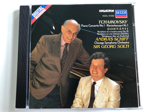 Tchaikovsky - Piano Concerto No.1, Klavierkonzert Nr.1 / Dohnányi / Variations On A Nursery Song. Op. 25 / Andras Schiff / Chicago Symphony Orchestra / Conducted: Sir Georg Solti ‎/ Hungaroton Audio CD 1986 Stereo / HCDL 31252