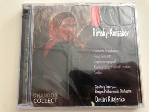 Rimsky-Korsakov - Complete Symphonies, Piano Concerto, Capriccio espagnol, Russian Easter Festival Overture, Sadko / Geoffrey Tozer, piano / Bergen Philharmonic Orchestra / Conducted by Dmitri Kitajenko / Chandos Collect Audio CD 2000 / 2CD (095115661321)