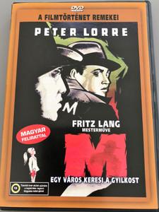 M - A City Searches for a Murderer DVD 1931 M - Egy város keresi a gyilkost / Directed by Fritz Lang / Starring: Peter Lorre, Otto Wernicke, Gustaf Gründgens / AKA M – Eine Stadt sucht einen Mörder / B&W Classic (5999545560986)