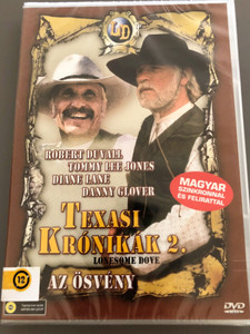 Lonesome Dove Part II: On the Trail DVD 1989 Texasi Krónikák 2. - Az ösvény / Directed by Simon Wincer / Starring: Robert Duvall, Tommy Lee Jones, Danny Glover, Diane Lane, Anjelica Huston (5999553600070)