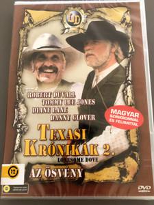 Lonesome Dove Part II: On the Trail DVD 1989 Texasi Krónikák 2. - Az ösvény / Directed by Simon Wincer / Starring: Robert Duvall, Tommy Lee Jones, Danny Glover, Diane Lane, Anjelica Huston (5999553600070)