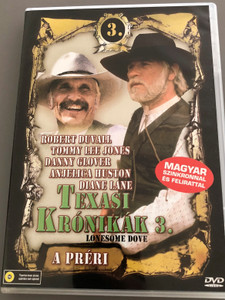 Lonesome Dove Part III: The Plains DVD 1989 Texasi Krónikák 3. - A préri / Directed by Simon Wincer / Starring: Robert Duvall, Tommy Lee Jones, Danny Glover, Diane Lane, Anjelica Huston (5999553600087)