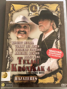 Lonesome Dove Part IV: Return DVD 1989 Texasi Krónikák 4. - Hazatérés / Directed by Simon Wincer / Starring: Robert Duvall, Tommy Lee Jones, Danny Glover, Diane Lane, Anjelica Huston (5999553600094)