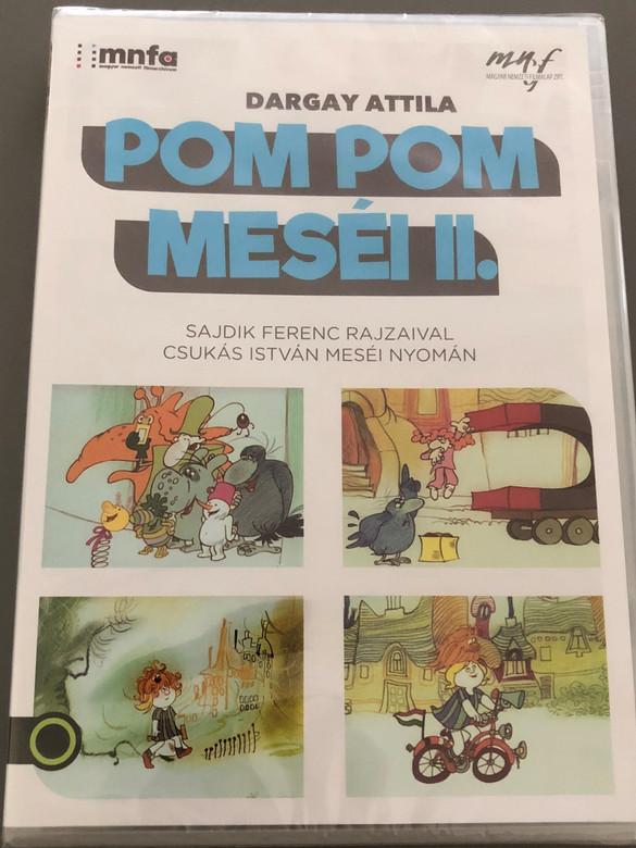 Pom Pom meséi II. DVD 1982 Pom Pom's Stories 2 / Directed by Dargay Attila / Written by Csukás István / Hungarian Voices: Petrik József, Kovács Klára, Csákányi László / Hungarian Animated series / 13 tales on DVD (5999887816048)