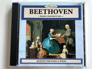 Beethoven - Piano Concerto Nr. 4, Quintet for piano & winds / Palette Audio CD 1996 / PAL022