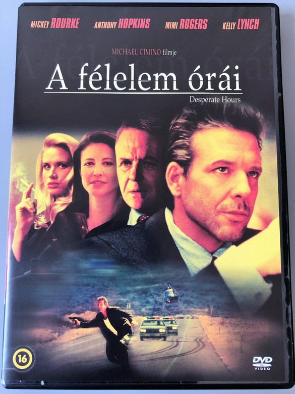 Desperate Hours DVD 1990 A félelem órái / Directed by Michael Cimino / Starring: Mickey Rourke, Anthony Hopkins, Mimi Rogers, Lindsay Crouse, Kelly Lynch (5999546335743)
