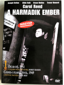The Third man DVD 1949 A Harmadik ember / Directed by Carol Reed / Starring: Joseph Cotten, Alida Valli, Orson Welles, Trevor Howard / B&W classic (5999881068757)