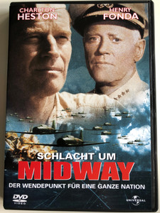 Midway DVD 1976 Schlact um Midway / Directed by Jack Smight / Starring: Charlton Heston, Henry Fonda, James Coburn, Glenn Ford (5050582029604)