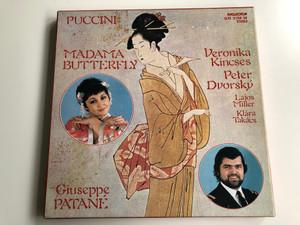 Puccini – Madama Butterfly / Veronika Kincses, Peter Dvorský, Lajos Miller, Klára Takács / Conducted: Giuseppe Patanè / Hungaroton 3X LP Stereo / SLPX 12 256-58
