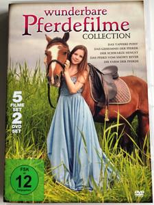 Wunderbare Pferdefilme Collection 2 DVD SET / 5 films / Das Tapfere Pony, Das Gehemnis der Pferde, Der Schwarze Hengst, Das pferd Vom Snowy River, Die Farm Der Pferde (9120052890730)