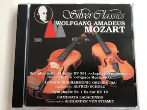Silver classics / Wolfgang Amadeus Mozart / Symphonie Nr. 41 C-dur KV 551, Jupiter Symphonie, Ouverture zu, Figaros Hochzeit / London Philharmonic Orchestra / Symphonie Nr. 1 Es-dur KV 16 / Camerata Labacensis / Silver Classics Audio CD 1989 / SC 014