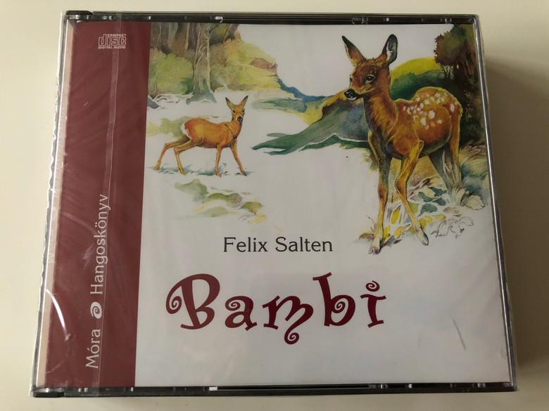 Bambi by Felix Salten / Hungarian language Audio Book / Reak by Kubik Anna / Móra könyvkiadó 2007 / 5x Audio CD (9789631183559)