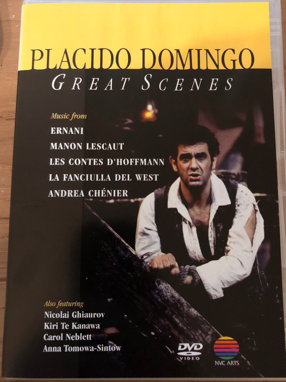 Placido Domingo - Great Scenes DVD 1990 / Music from Ernani, Manon Lescaut, Les Contes D'Hoffmann / Featuring Nicolai Ghiaurov, Kiri Te Kanawa, Carol Neblett, anna Tomowa-Sintow / NVC-Arts (5051011277122)