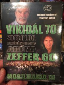 Vikidál 70 / Zeffer 60 / Mobilmánia 10 DVD 2018 Anniversary Concert / Papp László Budapest SportAréna / 3x Audio CD + 3 DVD (5999566221361)