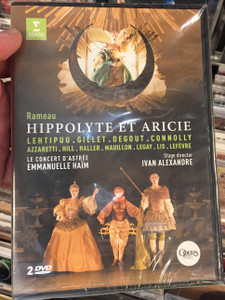 Jean-Philippe Rameau: Hippolyte et Aricie DVD / Lehtipuu, Gillet, Degout, Connolly / Stage Director Ivan Alexandre / 2 DVD / Directed by Olivier Simonnet / Conducted by Emmanuelle Haim (0825646229178)