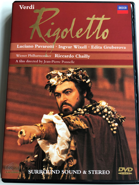 Giuseppe Verdi - Rigoletto DVD 1998 / Directed by Jean-Pierre Ponnelle, Starring Ingvar Wixell, Edita Gruberova, Luciano Pavarotti / Wiener Philharmoniker / Conducted by Riccardo Chailly / Decca (044007140192)