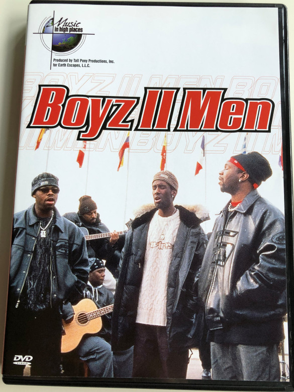 Boyz II Men DVD 2001 / Music in high places / Directed by Alan Carter / Do you remember, End of the Road, Step on Up, On bended knee / Nathan Morris, Wanya Morris, Shawn Stockman (7391970007629)