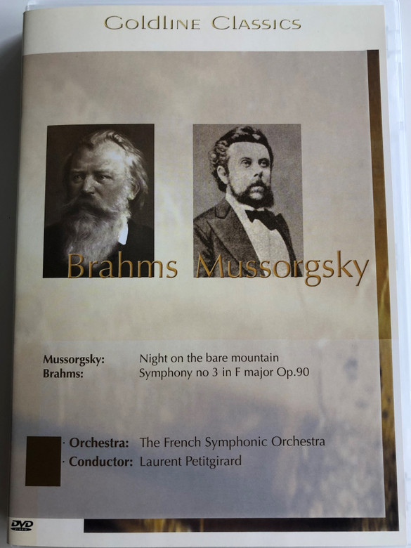 Brahms - Mussorgsky DVD 1995 / Night on the bare mountain, Symphony no. 3 in F major Op. 90 / French Symphonic Orchestra / Conducted by Laurent Petitgirard / Goldline Classics (4028462500025)