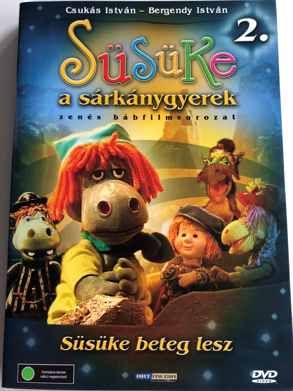 Süsüke a sárkánygyerek 2. DVD 2001 Süsüke beteg lesz / Directed by Foky Ottó / Written by Csukás István / Voices: Bodrogi Gyula, Szalay Csongor, Makay Sándor, Vándor Éva, Háda János / Hungarian Puppet movie for children (5998557197760)