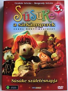 Süsüke a sárkánygyerek 3. DVD 2001 Süsüke születésnapja / Directed by Foky Ottó / Written by Csukás István / Voices: Bodrogi Gyula, Szalay Csongor, Makay Sándor, Vándor Éva, Háda János / Hungarian Puppet movie for children (5998557197869)