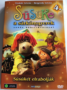 Süsüke a sárkánygyerek 4. DVD 2001 Süsükét elrabolják / Directed by Foky Ottó / Written by Csukás István / Voices: Bodrogi Gyula, Szalay Csongor, Makay Sándor, Vándor Éva, Háda János / Hungarian Musical Puppet movie for children (5998557197968)